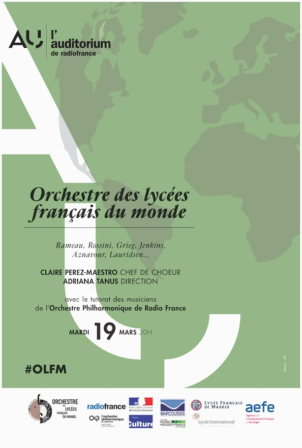 Suivez en direct le concert de l'Orchestre des lycées français du monde dans le grand auditorium de Radio France ce soir 21h (heure grecque)