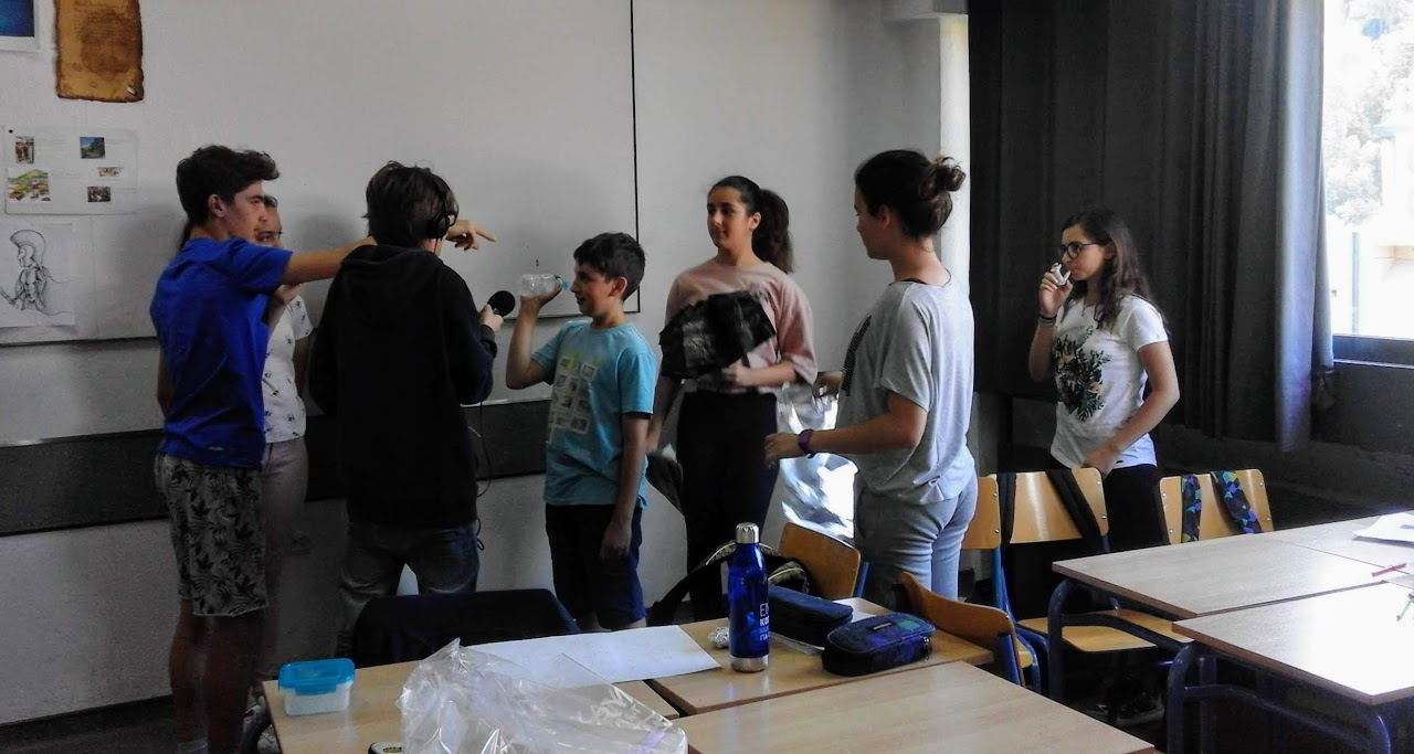 Eργαστήριο ήχου των μαθητών της Α Γυμνασίου με την σκηνοθέτρια Μαρία Λεωνίδα  -1