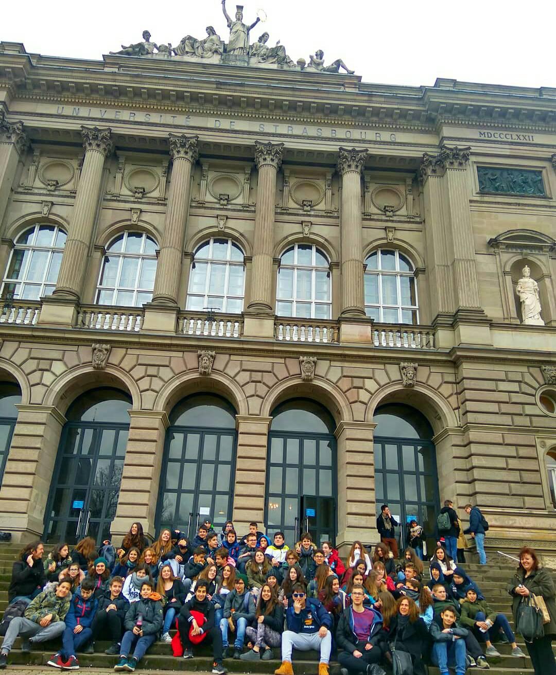 Οι μαθητές της Β' Γυμνασίου στο Στρασβούργο-2