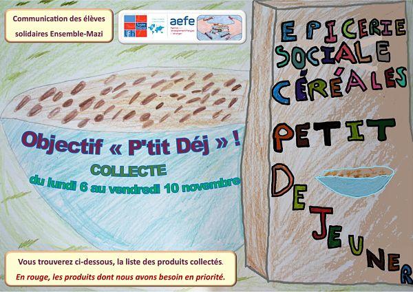 """ÉPICERIE SOCIALE Collecte Objectif """"P'tit Déj""""-0"""