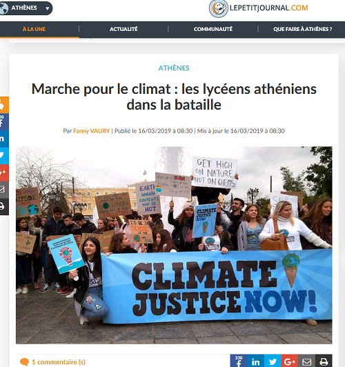 Nos élèves marchent pour le climat : Le Petit Journal va à leur rencontre