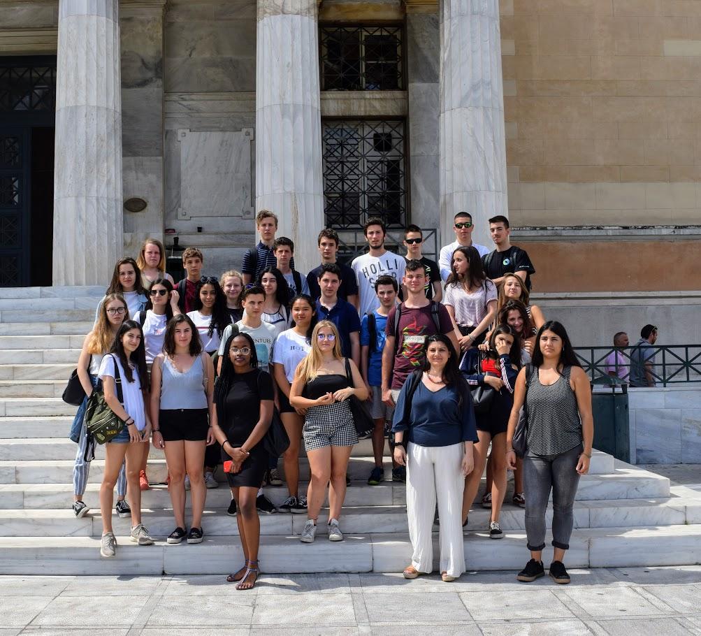 Les classes de 2nde visitent le Parlement grec-0