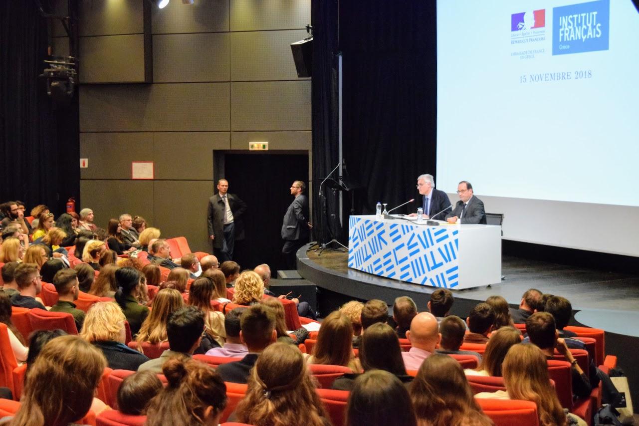 Διάλεξη του François Hollande για την Ευρώπη στο Γαλλικό Ινστιτούτο : οι τελειόφοιτοι του LFHED κάνουν τις ερωτήσεις τους-1
