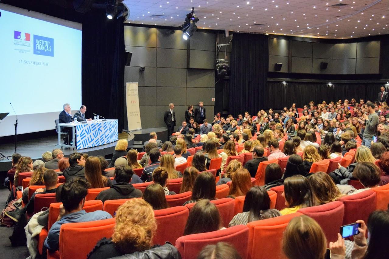 Διάλεξη του François Hollande για την Ευρώπη στο Γαλλικό Ινστιτούτο : οι τελειόφοιτοι του LFHED κάνουν τις ερωτήσεις τους-3