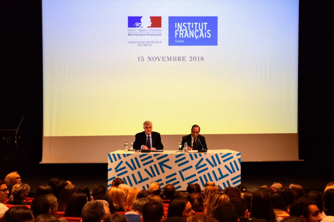Διάλεξη του François Hollande για την Ευρώπη στο Γαλλικό Ινστιτούτο : οι τελειόφοιτοι του LFHED κάνουν τις ερωτήσεις τους-5