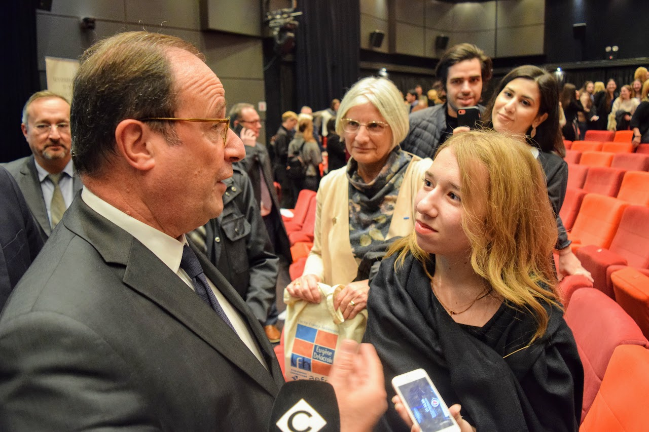 Διάλεξη του François Hollande για την Ευρώπη στο Γαλλικό Ινστιτούτο : οι τελειόφοιτοι του LFHED κάνουν τις ερωτήσεις τους-7