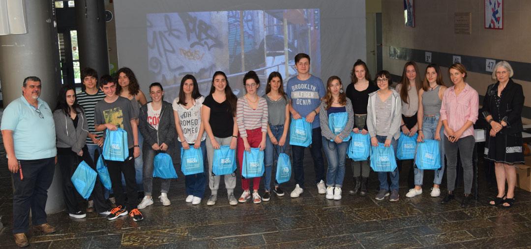 Les élèves de FLE de la Section Hellénique remportent le prix de l'engagement citoyen au Concours national de la Francophonie 2018 -1