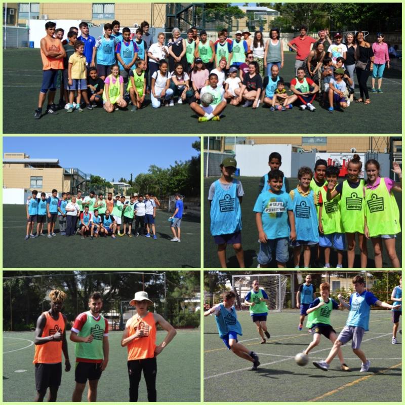 Rencontre sportive de jeunes réfugiés du centre JRS d'Athènes avec nos élèves au LFHED-0