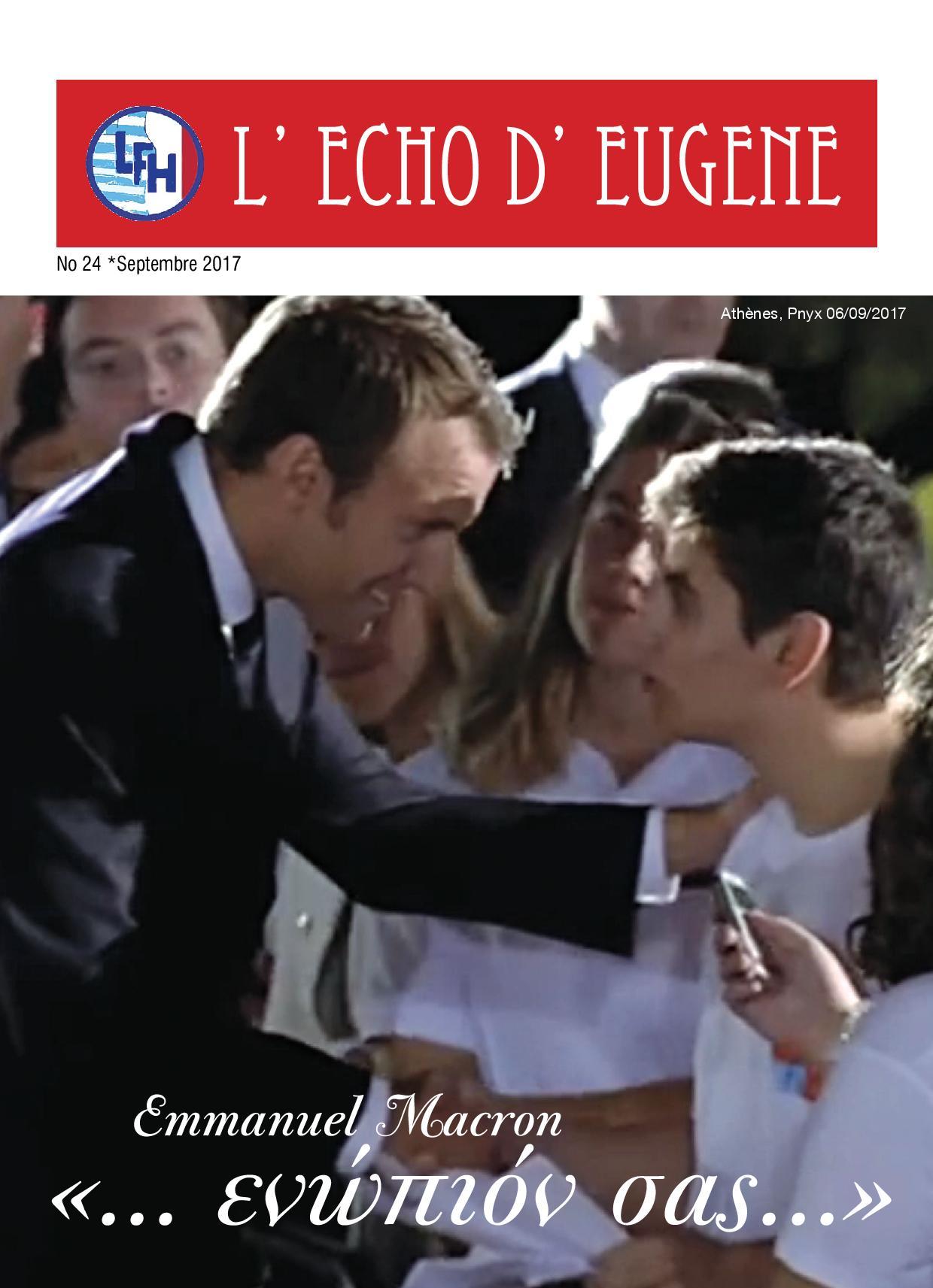 Echo d'Eugène numéro 24 (Octobre 2017)