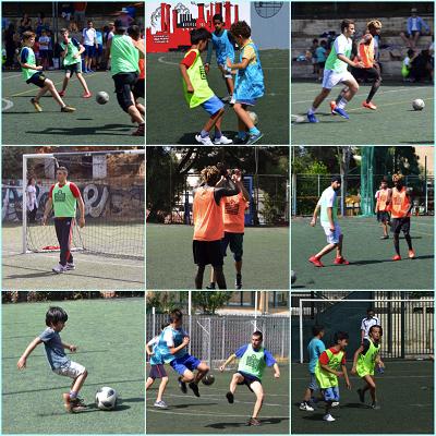 Rencontre sportive de jeunes réfugiés du centre JRS d'Athènes avec nos élèves au LFHED-3
