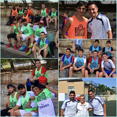 Rencontre sportive de jeunes réfugiés du centre JRS d'Athènes avec nos élèves au LFHED-4