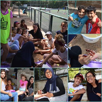 Rencontre sportive de jeunes réfugiés du centre JRS d'Athènes avec nos élèves au LFHED-1