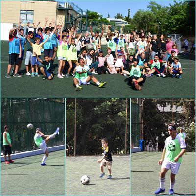 Rencontre sportive de jeunes réfugiés du centre JRS d'Athènes avec nos élèves au LFHED-2