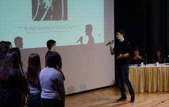 Nos élèves au colloque « En voyageant avec Kazantzakis »-6