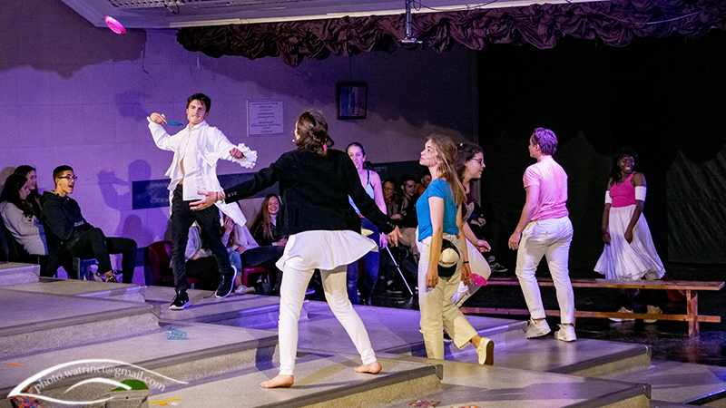 Les élèves de 1ère option théâtre présentent le spectacle « ANIMUS ANIMA »-14