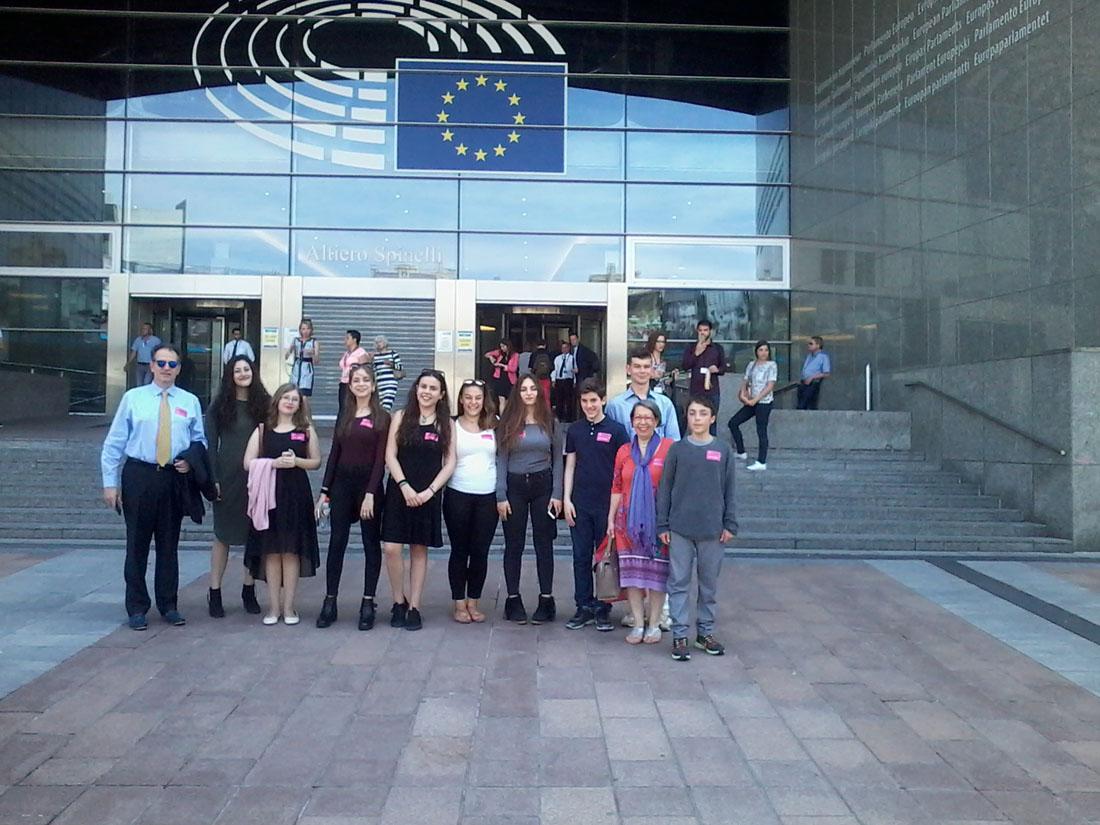 La classe de 3e1 OGALCH invitée au Parlement européen-1