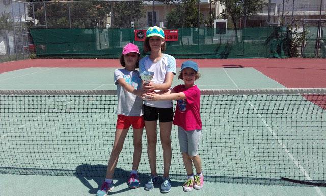 Fotini Maria Bergelé, 1ère au tournoi de tennis de la municipalité de Pallini