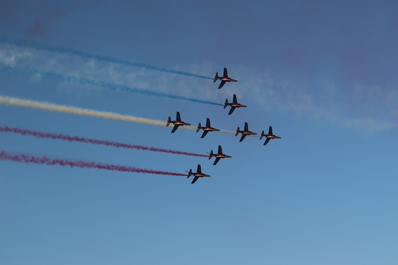 Nos élèves vidéastes interviewent les pilotes de la Patrouille de France-5