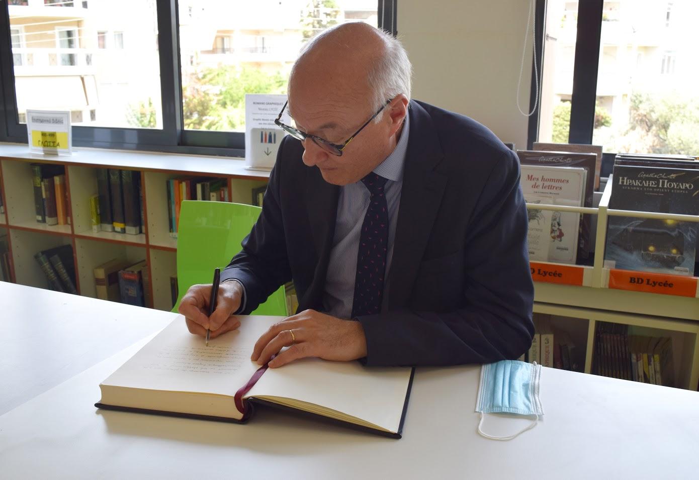 Visite au LFHED de M. Berti, inspecteur du ministère de l'Europe et des Affaires étrangères-8