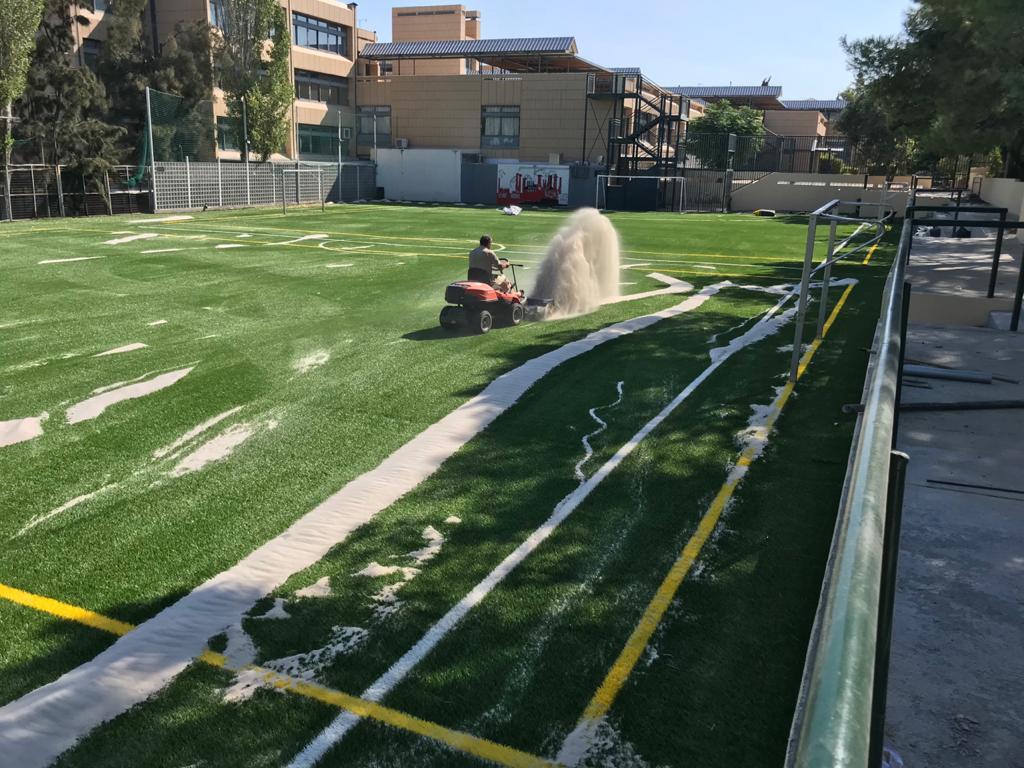 Le terrain de football du LFHED fait peau neuve !-1
