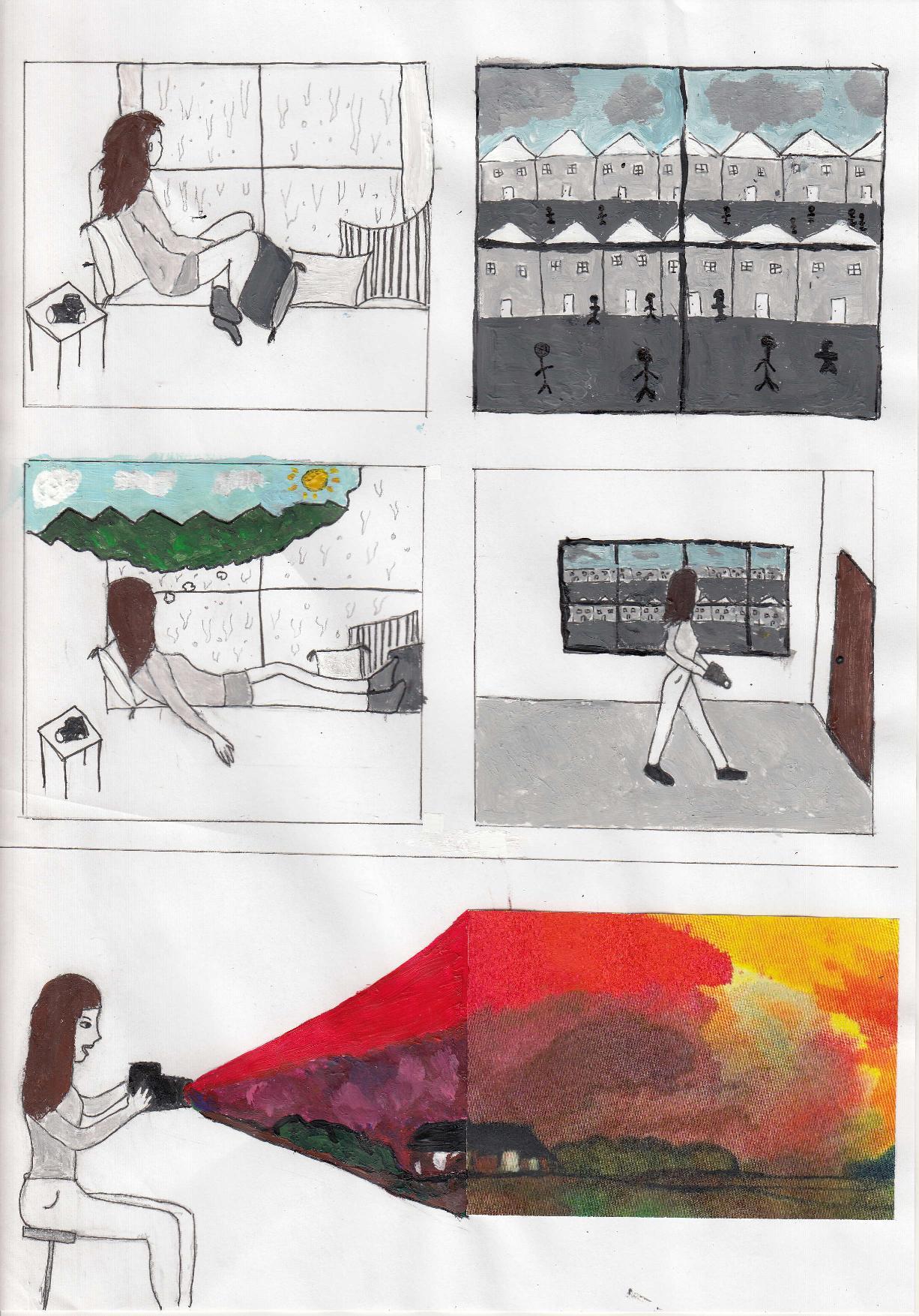 Οι μαθητές της Γ' Γυμνασίου εκφράζονται μέσω της τέχνης κατά τη περίοδο του εγκλεισμού-3
