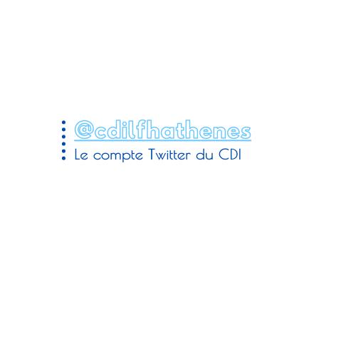Suivez le compte Twitter du CDI !