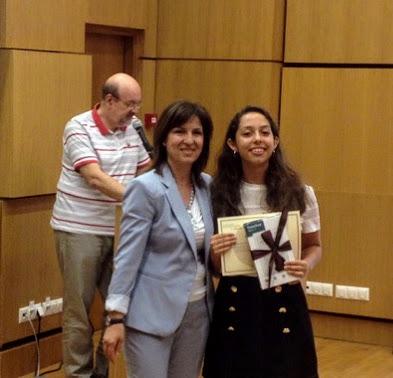2ο βραβείο στον 5ο Διαγωνισμό Αναγνωστικών Δεξιοτήτων στη μαθήτρια της Γ' Γυμνασίου Κωνσταντίνα Μαρνιέρου