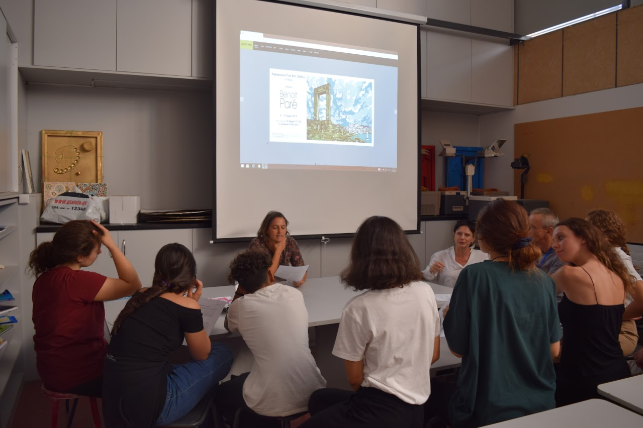 Le peintre Benoît Paré rencontre les élèves de 1ère option théâtre-1