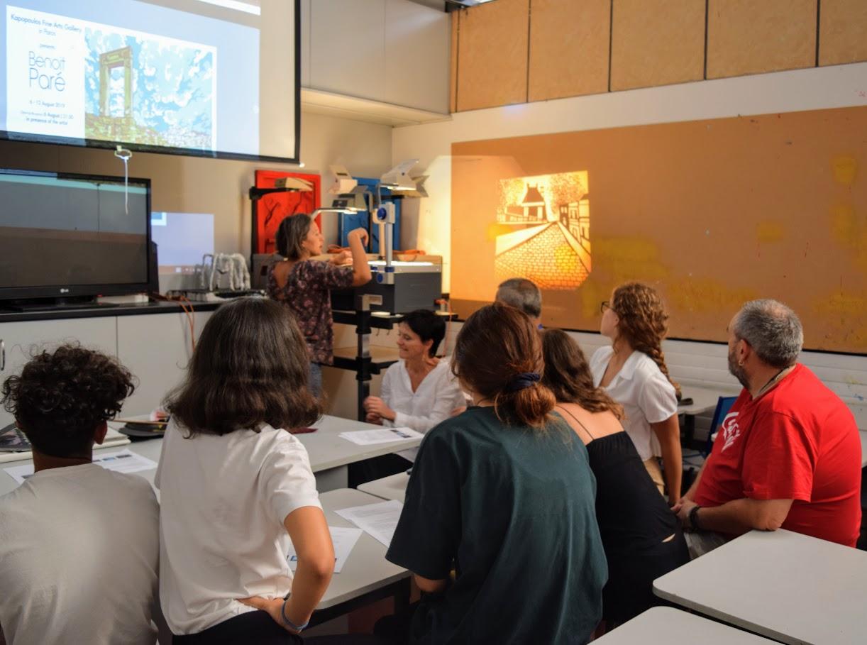 Le peintre Benoît Paré rencontre les élèves de 1ère option théâtre-2
