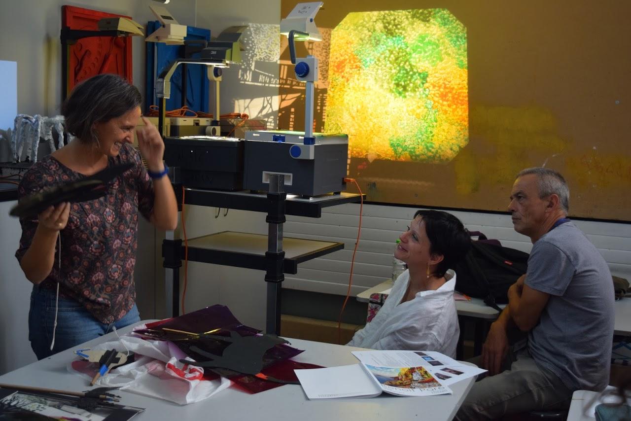 Le peintre Benoît Paré rencontre les élèves de 1ère option théâtre-3