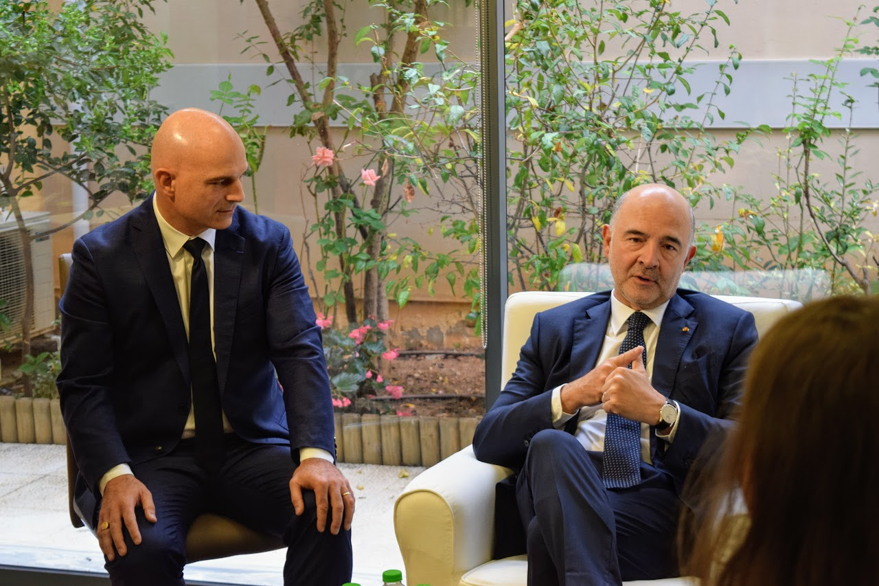Visite de Pierre Moscovici au LFHED-4