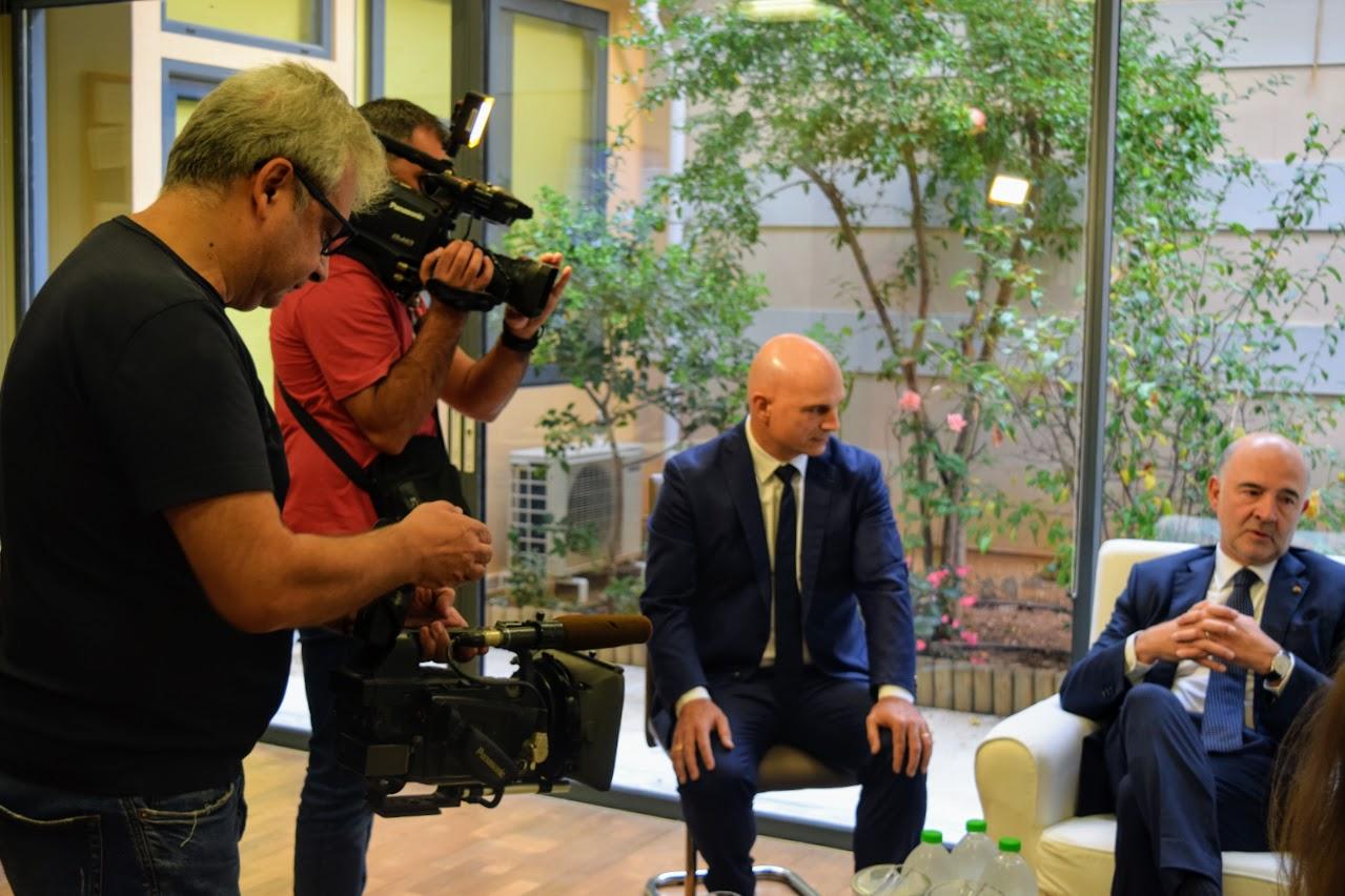 Visite de Pierre Moscovici au LFHED-6