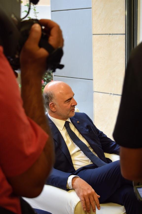 Visite de Pierre Moscovici au LFHED-7
