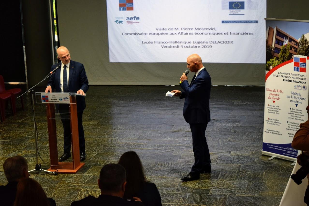 Visite de Pierre Moscovici au LFHED-8