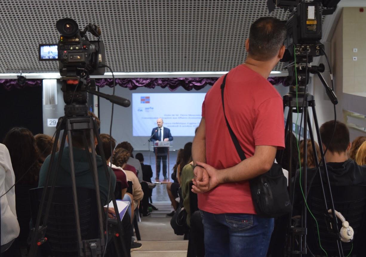 Visite de Pierre Moscovici au LFHED-10