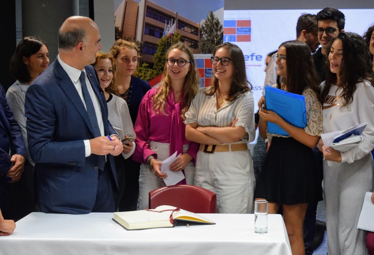 Visite de Pierre Moscovici au LFHED-0
