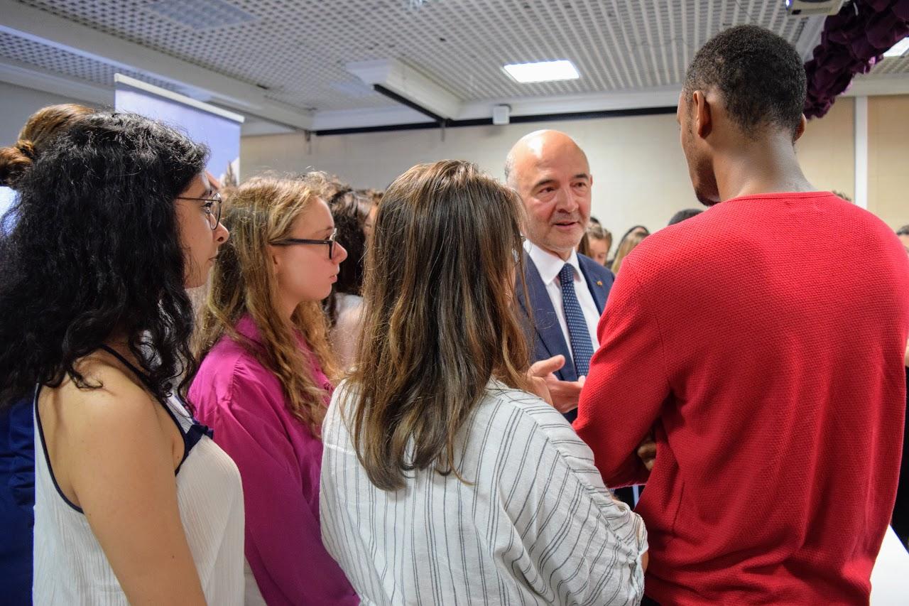 Visite de Pierre Moscovici au LFHED-17