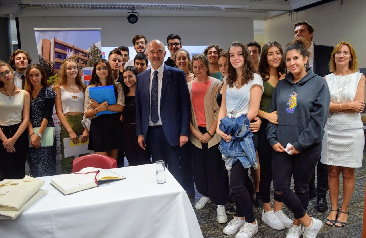 Visite de Pierre Moscovici au LFHED-21