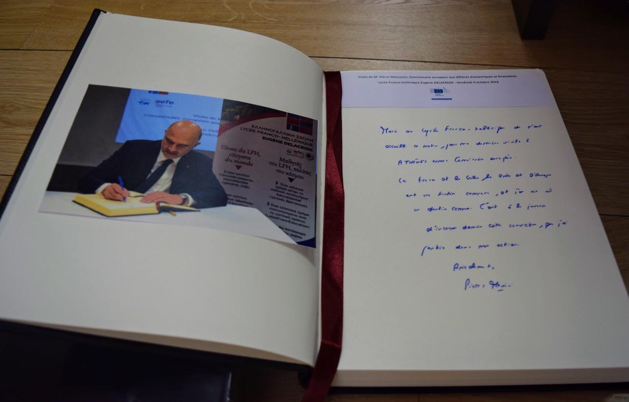 Visite de Pierre Moscovici au LFHED-24