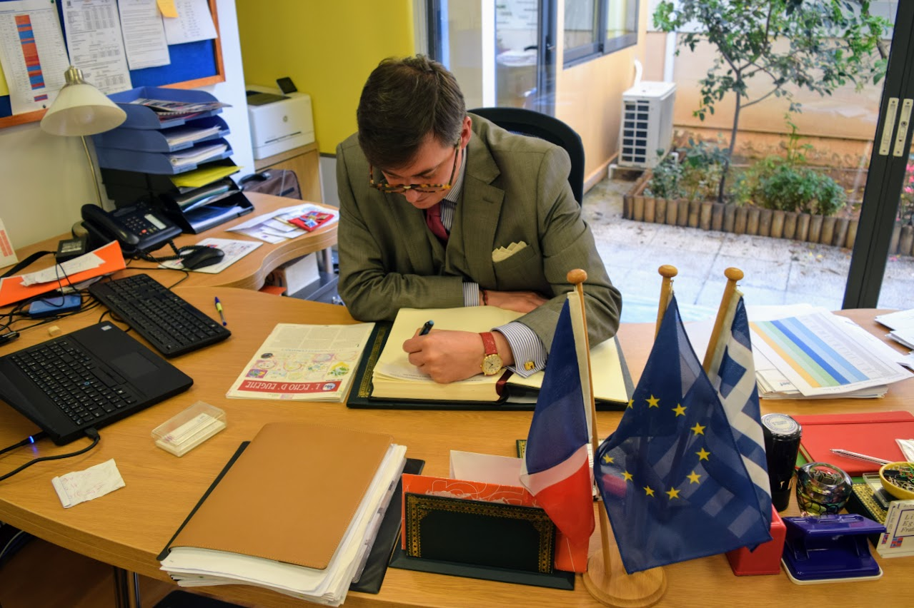 Visite au LFHED de Christophe-André Frassa, Sénateur représentant les Français établis hors de France-14