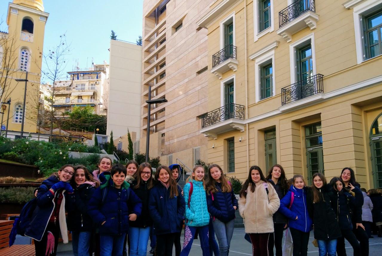 La classe de 6ème OGALCH en visite guidée à la Fondation Goulandris-3