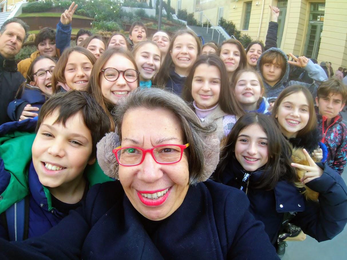 La classe de 6ème OGALCH en visite guidée à la Fondation Goulandris-1