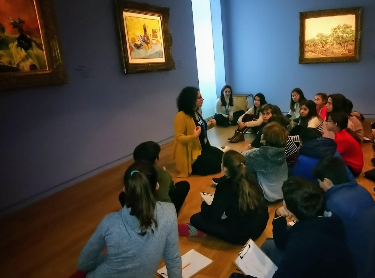 La classe de 6ème OGALCH en visite guidée à la Fondation Goulandris-0
