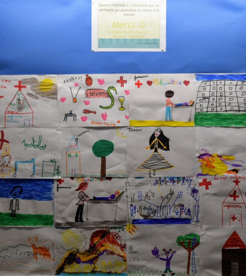 L'infirmerie du LFHED expose les dessins de ses petits patients -2