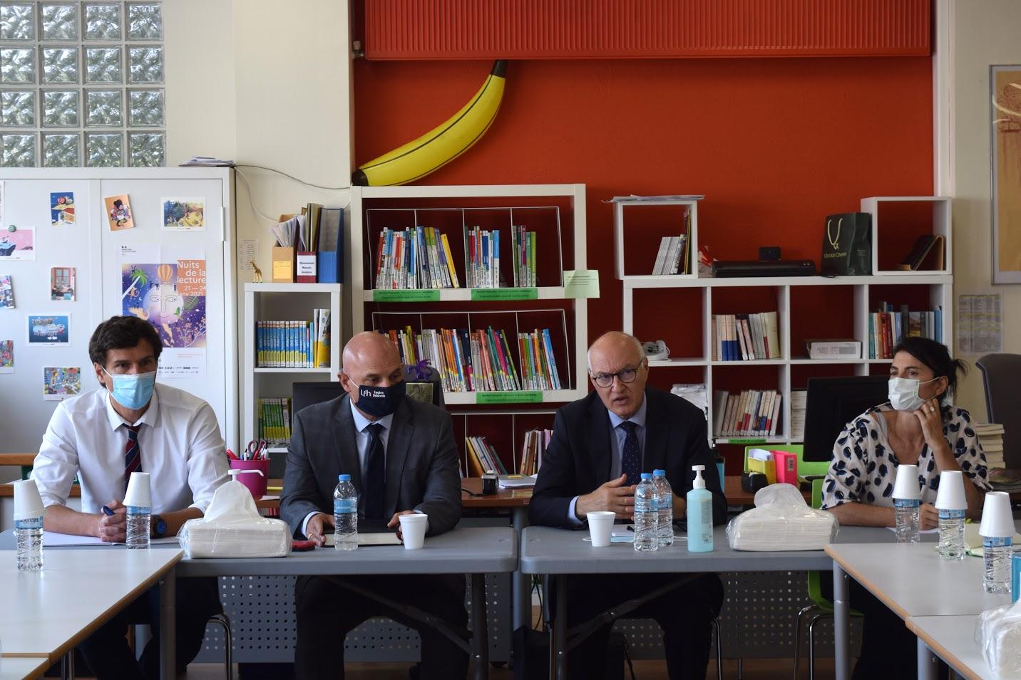Visite au LFHED de M. Berti, inspecteur du ministère de l'Europe et des Affaires étrangères-6