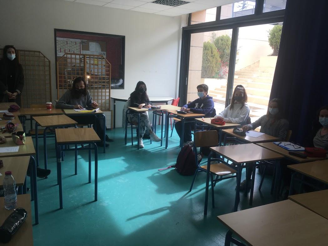 Nos élèves des deux Sections se préparent pour l'Euro Parlement Palma   -2