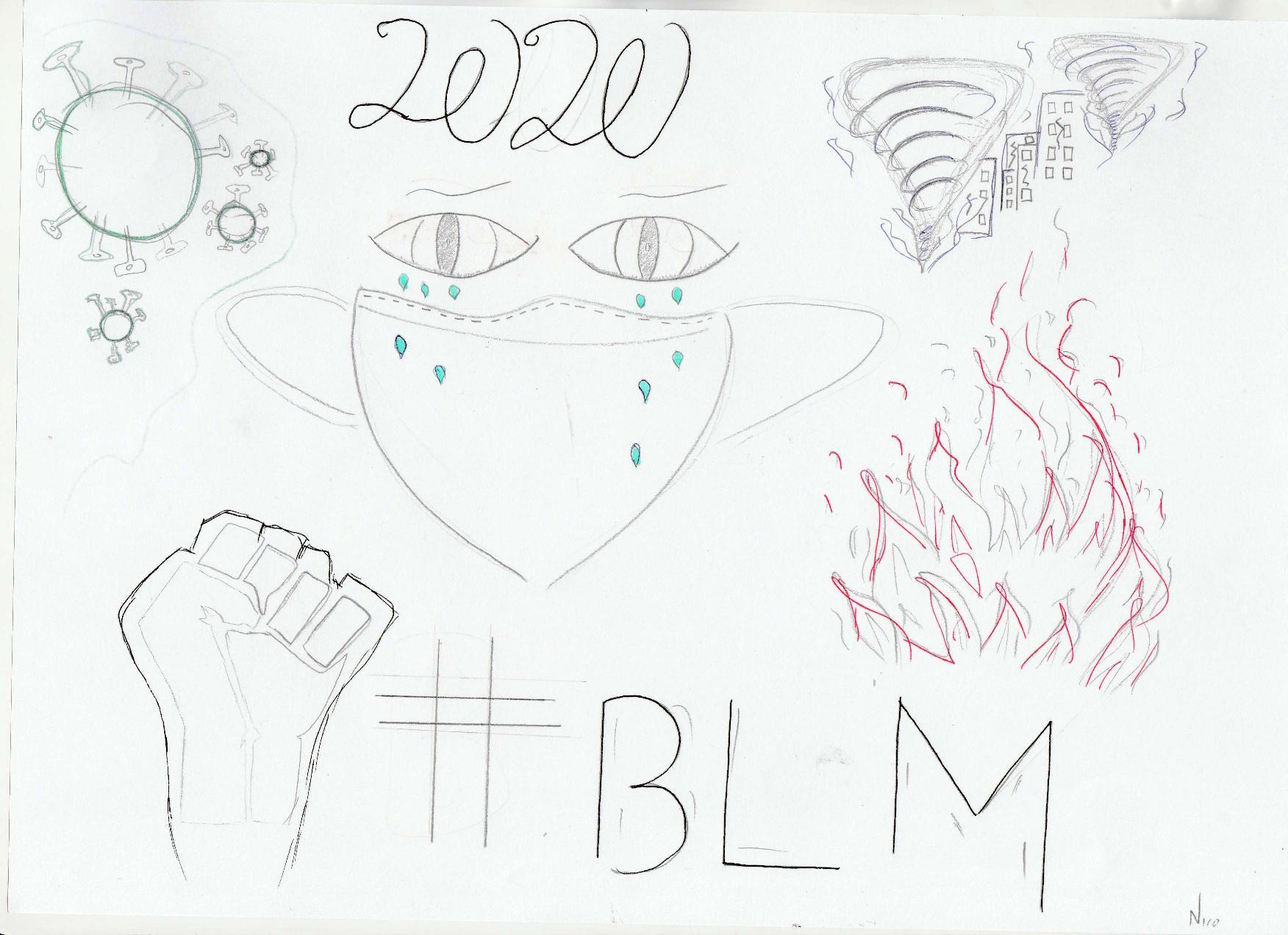 Οι μαθητές της Γ' Γυμνασίου εκφράζονται μέσω της τέχνης κατά τη περίοδο του εγκλεισμού-1