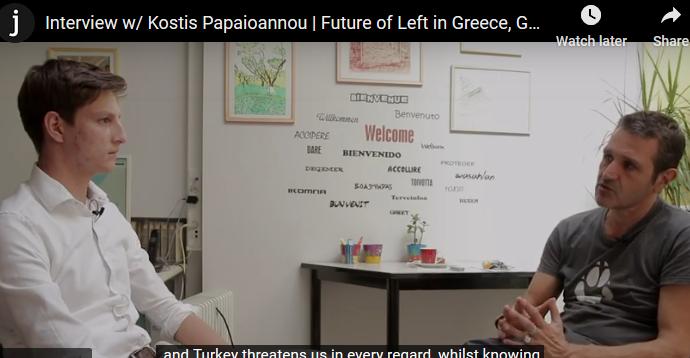 Publication de l'interview réalisée par notre élève Iason Evlampios dans le journal indépendant turc Medyascope