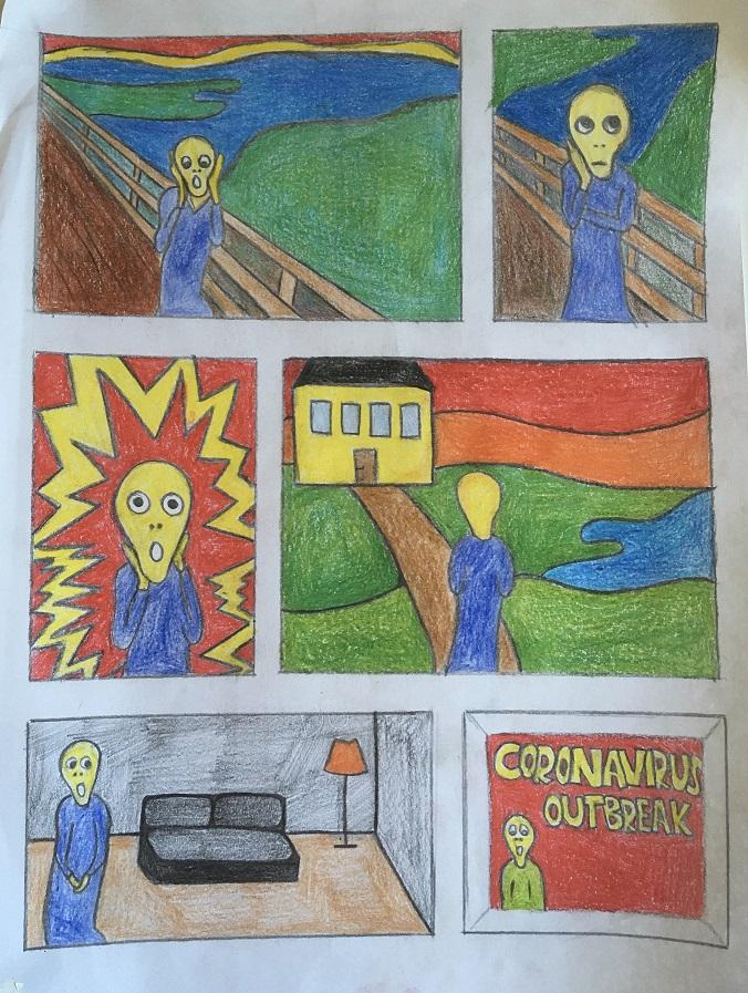 Οι μαθητές της Γ' Γυμνασίου εκφράζονται μέσω της τέχνης κατά τη περίοδο του εγκλεισμού-4