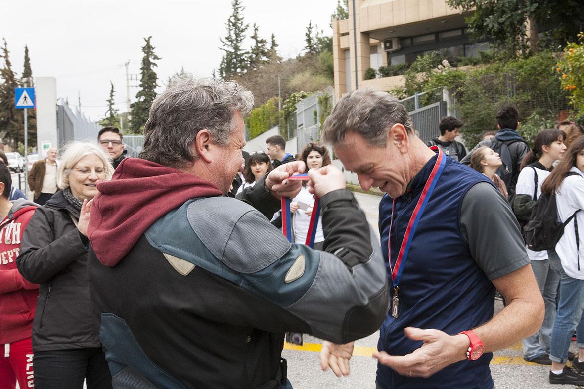 Beau succès pour la grande course du lycée franco-hellénique qui s'est déroulée le 12 mars-18